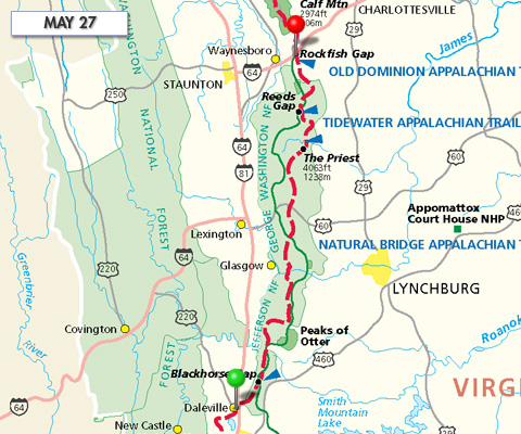 Joe Liles\' Appalachian Trail Hike » 2009 » May