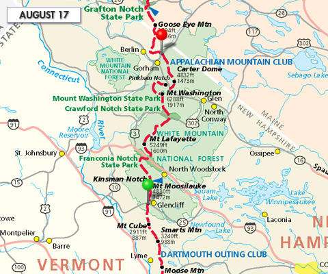 Joe Liles Appalachian Trail Hike Trail Report - Appalachian trail new hampshire map