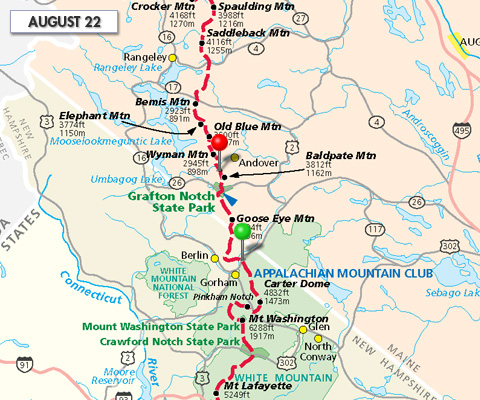 Appalachian Trail Map Hanover New Hampshire